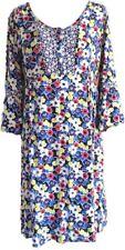 Boden Multicolour Daisy Floral Smock Tunic Dress Peasant Boho Hippy Pockets 14R