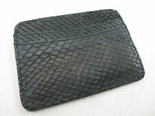 Genuine Python Snake Skin Business Credit ID Card Holder Black + Free Shipping