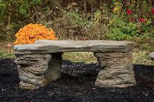 Garden Decor Cast Stone Concrete Memorial Bench, CF-202 Petrified Rock Bench