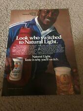 Vintage 1980 JOE FRAZIER Natural Light Beer Poster Print Ad BOXING RARE