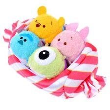 Disney Tsum Tsum Plush Japan Candy Bag Set 2015 Pooh Piglet Sulley Mike LE NWT