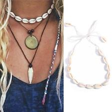 Fine Beach Bohemia Velvet Shell Pendant Choker Rope Tassel Necklace Jewelry BYAU