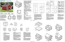 """30"""" x 36"""" Gable Roof Style Dog House Plans, 90203G  Pet Size up to 50 lbs"""