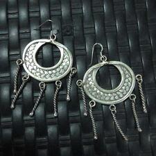 Earrings Hill Tribe Fine Silver Chandelier Craft Tribal Fancy er009