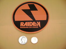 NITRO SNOWBOARDS RAIDEN SNOWBOARD BINDINGS  LOGO ICON BLK/ORG STICKER WORD ICON