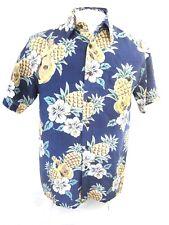 HAWAIIAN SILK COMPANY Men ALOHA shirt pit to pit 21 S pineapple floral camp luau