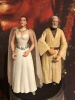 Vintage Hasbro Star Wars Action Figure Lot of 2 Princess Leia Obi Wan Kenobi