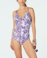MSRP $118 Calvin Klein Python Printed One Piece Swimsuit Swimsuit Size 8