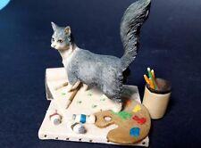 Schmid Border Fine Arts Lowell Davis Cat & Painting Easel Scotland Retired 1984