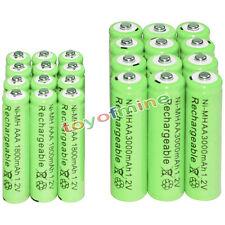 12 AA 3000mAh + 12 AAA 1800mAh battery Bulk Nickel Hydride Rechargeable 1.2V Gre