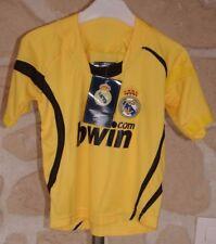 Tee-shirt jaune et noir neuf taille 4 ans Real de Madrid marque Draps Center (b)