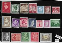 #5906    Mixed MH stamp group / Adolph Hitler / Third Reich Germany Postage