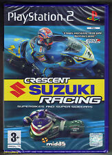 PS2 Crescent Suzuki Racing (2004) UK Pal, Brand New & Sony Factory Sealed