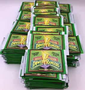 (205)x Mighty Morphin Power Rangers TV Movie Trading Card Pack Lot Green