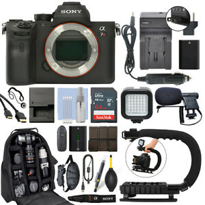 Sony Alpha a7R III Mirrorless 42MP Digital Camera Body + 64GB Pro Video Kit