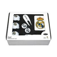 Real Madrid FC Lata de regalo accesorios Golf Premium, ESFERAS, Etiqueta Bolso,