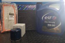 SET MANTENIMIENTO 3 FILTROS ORIGINAL RENAULT CLIO IV 1.5 DCI Y ACEITE ELF 5 LT