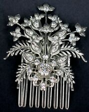 BEAUTIFUL SILVER & DIAMANTE HAIR COMB by ELYSIAN CREATIONS