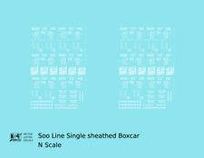 K4 N Decals Soo Line Single Sheathed Boxcar White