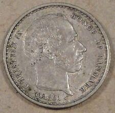 Denmark 1891 25 Ore Better Circulated Grade Coin