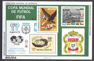 Soccer 1978 A24 MNH Argentina Bolivia block World Cup