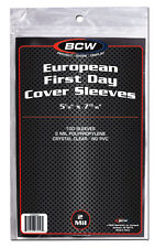 EUROPEAN FIRST DAY COVER PROTECTIVE SOFT SLEEVES x 100 SLEEVE pack