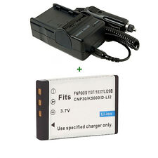 Rechargeable Lithium-ion Battery + Charger for VIVITAR DVR-390H 550 Vivicam 4000