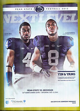 Oct.12,2013 Penn State vs Michigan Program Nr Mint + PSU Logo Game Towel