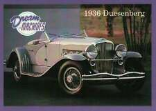 1936 Duesenberg, Dream Machines Cars Trading Card, Automobile - Not Postcard