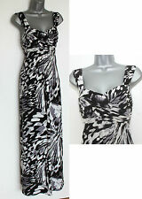 Grey Black Gorgeous Party Cocktail Maxi Dress UK 10 @ JOHN LEWIS