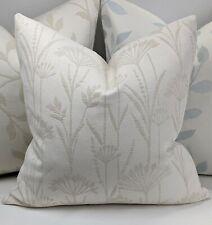 "John Lewis Anemone Fabric Cushion Cover, 16""x16"" Natural, Cream"
