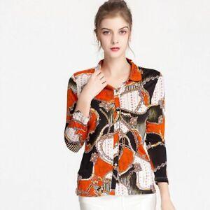 Women Silk Knit Long Sleeve Shirt  Women's 100% Natural Silk Knitted Fashion ...