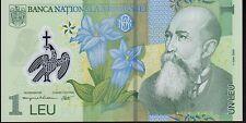 Rumanía 1 Lei 2005 P117 Mint UNC Nota de polímero