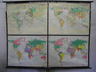 Schulwandkarte Beautiful Old World Map History 83 1/2x63 13/16in Vintage ~