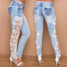 Fashion Women's Blue Jeans Sexy Slim Leggings Skinny Jeans Light Denim Hot Pants