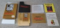 The Legend of Zelda Nintendo NES Gold Complete CIB Five 5 Screw Map Manual CIB !
