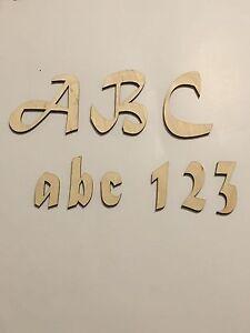 One Laser Cut Wooden Letter, Mattura Script Font, Crafting Supplies, Letters