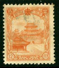 China 1936 Manchukuo Fourth Definitives 12 Fen Mint H319 ⭐⭐⭐⭐⭐⭐