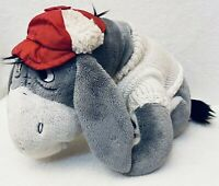 Gray Eeyore Plush With Christmas/Holiday Sweater and Cap w/ Attached Tail 9 x 13
