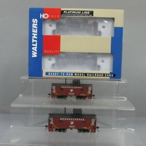 Walthers 932-27643 HO Scale Pennsylvania N6B Wood Caboose (Pack of 2) LN/Box