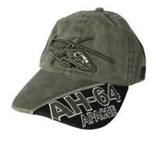 874cd1e875033 Gorra beisbol verde oliva helicoptero AH-64 prelavado militar táctico  senderismo