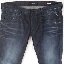 Mens Replay M914 ANBASS Tapered Blue Jeans W40 L34