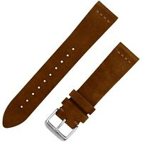Vintage Suede Leather Watchband - Dark Brown - 18, 20 & 22mm