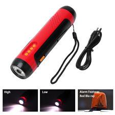 5-IN-1 Hand Crank Emergency Flashlight FM Radio Torch Power Bank USB 3-Mode Lamp