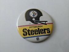 "VINTAGE NFL 1970's PITTSBURGH STEELERS 3 1/4"" BUTTON PIN BACK      PINBACK"