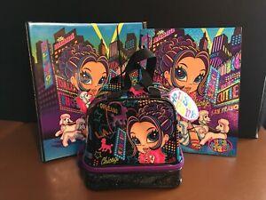 Rare Unused Lisa Frank Glamour Girl Trapper Keeper/Binder, Folder, Lunch Bag Set