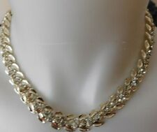 Vintage Signed Coro Rhinestones Necklace Choker
