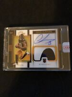 2020 Panini One Chase Claypool Premium Rookie Patch Auto Bronze #d /25 Steelers