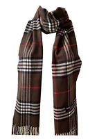 New Winter Womens Mens 100% Cashmere Wool Wrap Scarf Plaid Scarves (#39)