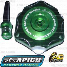 Apico Green Alloy Fuel Cap Vent Pipe For Kawasaki KX 450F 2007 Motocross Enduro
